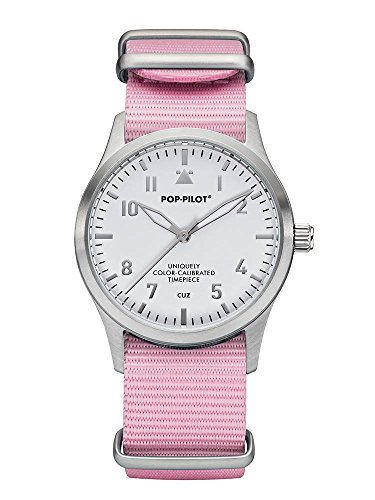 Pop Pilot Damen Analog Quarz Uhr mit Stoff Armband Cuz T01