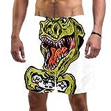 Shorts de Playa para Hombre Dinosaur Game Console con Calzoncillo de Malla con cordón Pantalones Cortos por Encima de...