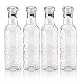 JM SELLER Set of 4 Leak Free Plastic Fridge Water Bottle Set for Office, Sports, School, Travelling, Gym, Yoga