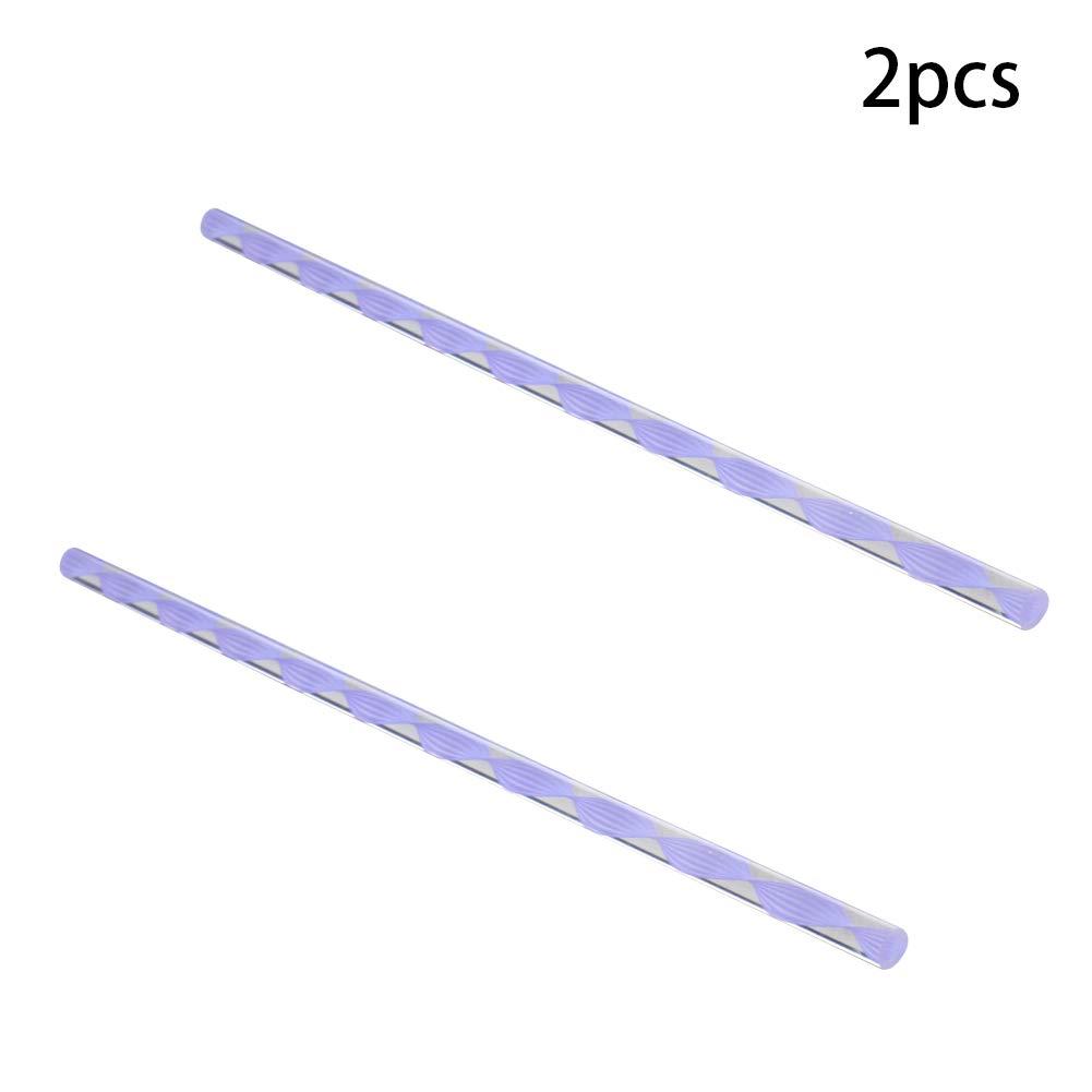 Fielect 1Pcs Light Purple Twisted Line Acrylic Round Rod Plexiglass Standard Tolerance 8mm Diameter Lightweight 250mm Height
