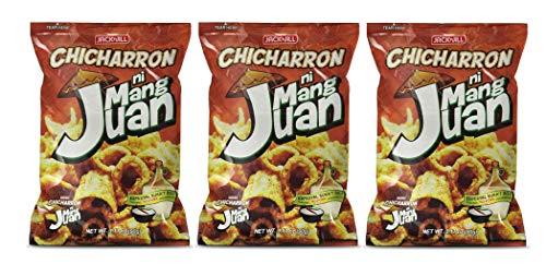 Jack n' Jill Chicharron ni Mang Juan Espesyal Suka'T Sili (Vinegar & Chilli Flavour) 90g, 3 Pack