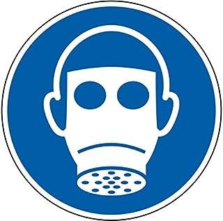 LEMAX Gebotsschild Atemschutz benutzen, ASR/ISO, Folie, selbstklebend, Durchmesser 100mm