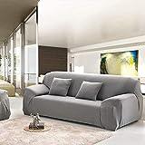 ADIS Sofahusse Ecksofa - Funda de sofá de fibra de poliéster para sofá de 4 plazas (235-300 cm, 90-140 cm)