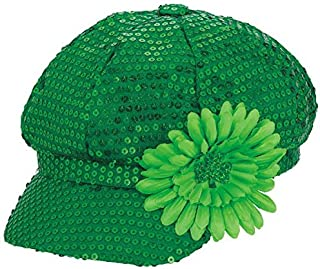 Amscan St. Patrick's Day Green Sequin Day Hat | Party Accessory