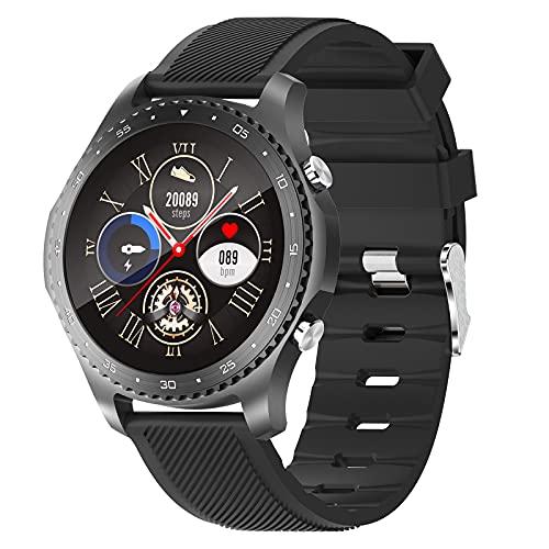 HQPCAHL Reloj Inteligente Smartwatch con Llamada Bluetooth Monitoreo de Temperatura presión Arterial oxígeno en Sangre sueño, Pulsera de Actividad Inteligente,Negro