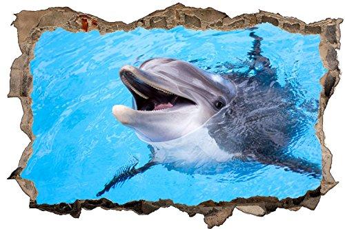 Delfine Wasser Tier Wandtattoo Wandsticker Wandaufkleber D1300 Größe 60 cm x 90 cm