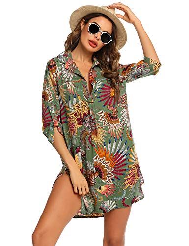 Unibelle Strandkleid Damen Frauen Badeanzug Strand Vertuschen Shirt Bikini Beachwear Badeanzug Strandkleid Strandponcho Sommer