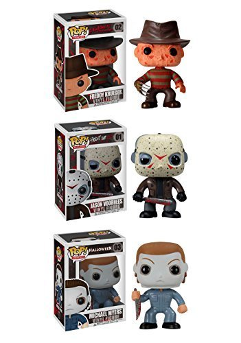 Funko Horror Classics POP! Movies Collectors Set: Freddy Krueger, Jason Voorhees, Michael Myers Action Figure by Flat River Group