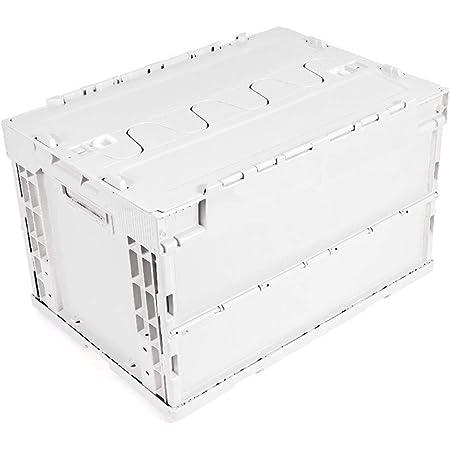 ポイント10% コンテナボックス 蓋付き 50l 折りたたみアウトドア コンテナ オリコン サンコー ベージュ サンクレットオリコンL51B-B (クリーンホワイト)