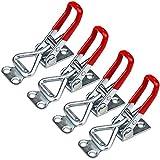 4 Piezas Abrazadera de Palanca Ajustable, Cierres Puertas Remolque de Liberación Rápida 100KG para Gabinete Baúl Vehículos - Acero Galvanizado