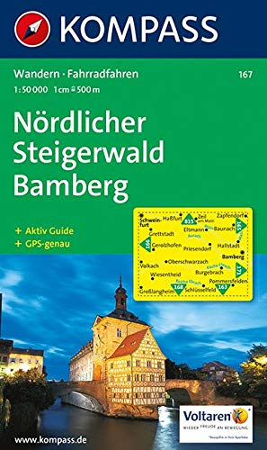 Nördlicher Steigerwald, Bamberg: Wander und Radkarte. GPS-genau. 1:50.000