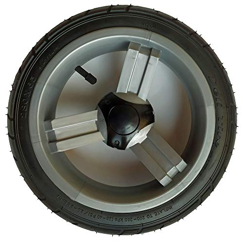 Kinderwagenrad Zipp 12,5 Zoll, kugelgelagert und luftbereift, Kunststofffelge grau