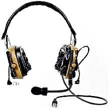 3M 88404-00000 Peltor ComTac IV Hybrid Communication Headset Dual Comm Kit, Coyote Brown