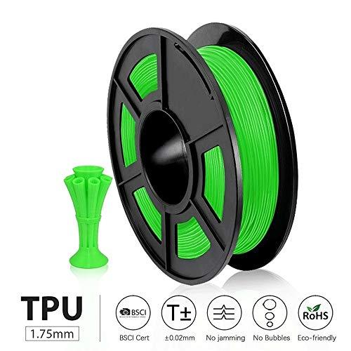 QWLHZW Tongguo. Entepad 0,5 kg TPU Flexible Filament Gute Alterungsbeständigkeit, umweltfreundliches, weiches Material zum Drucken von Kinderspielzeug, Schuhen (Color : Flexible White)