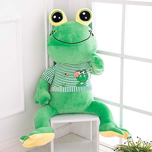 Juguete de Peluche 65cm Kawaii Plush Frog Doll Animales de Peluche Grandes Puf Gigante Animales Juguetes Muñeca Rana de Peluche Gigante Juguetes para niños Big Eye Frog Pillow