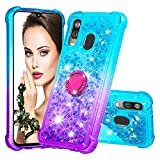 Lomogo Case for Galaxy A40 Glitter Silicone, Shockproof Soft Rubber Bumper Case Non-Slip Back Cover Thin Fit for Samsung Galaxy A40 - LOYBO480104 Ring #3