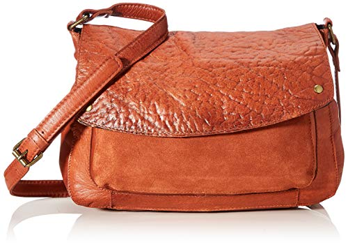 PIECES Damen Pcnikkie Leather Cross Body Fc Umhängetasche, Rot (Picante), 9,5x20x28 cm
