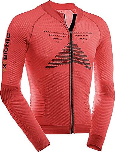 X-Bionic T-Shirt Biking on effecteur Power Ow LG SL. Full Zip Maillot de Cyclisme, Homme, Biking Man EFFEKTOR Power Ow Shirt LG_SL.Full Zip, Flash Red/Black