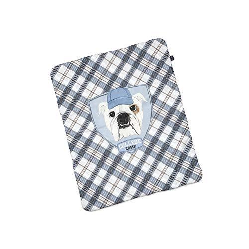 La Millou Velvet Collection - Manta mediana para campamento universitario, color azul
