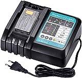 Cargador de litio de repuesto para Makita DC18RC, DC18RA, DC18RD, compatible con baterías BL1860, BL1850, BL1840, BL1830, BL1820, BL1430, BL1440, BL1450