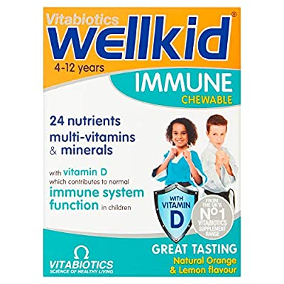 Vitabiotics Wellkid Immune Chewable, Pack of 30