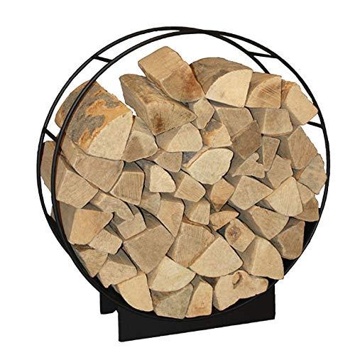 HARK Design Kamin Holzwiege Holzkorb Holzlege schwarz 50 cm