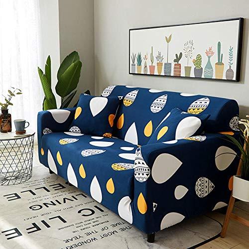 NLADTWLSD Funda de sofá de Alta Elasticidad, impresión Fundas para Sofa Antideslizante Cubierta para Sofa Protector para Sofás Lavable para el Salón (1 Asiento,Azul)