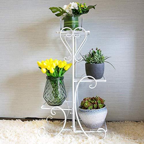 DX 4-Tier Upgraded Hochleistungspflanzenständer Blumentopfhalter Garden | Modernes Haus für drinnen und draußen D Eacute; COR | Wetterbeständig, sehr robust und gut verarbeitet HU