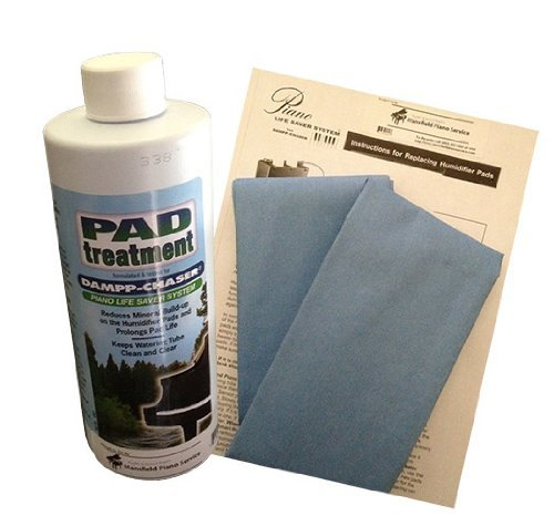 Dampp Chaser Piano Humidifier Pad Treatment 16 oz Bottle with BONUS Two Replacement Humidifier Pads