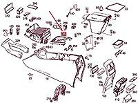 MB GLE W166 センター コンソール カバー モールディング A16668008032A17 NEW GENUINE