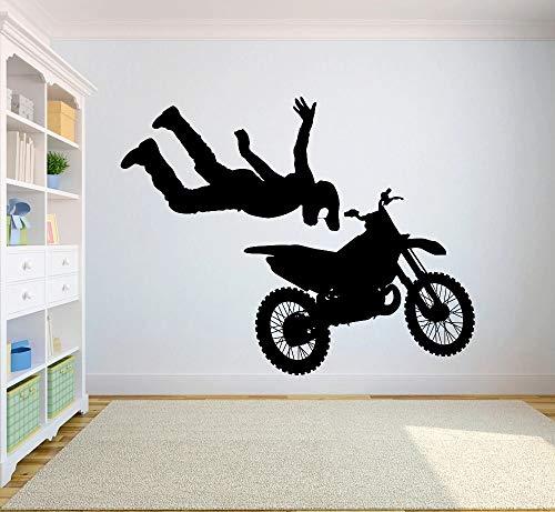 Pegatinas de pared freestyle dirt bike dormitorio deportes motocicleta personalidad niño adolescente
