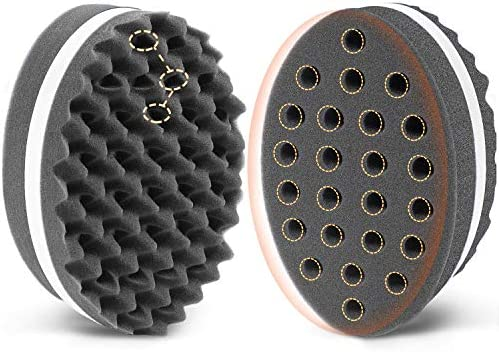 AIR TREE Small Holes Magic Twist Hair Brush Curl Sponge for Natural Hair Tornado Locking Afro product image
