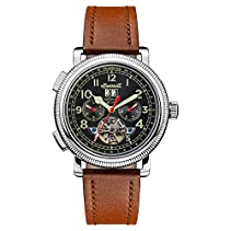 Ingersoll Men's The Bloch Automatic Watch withSchwarz Dial andBraun Leather Strap I02602