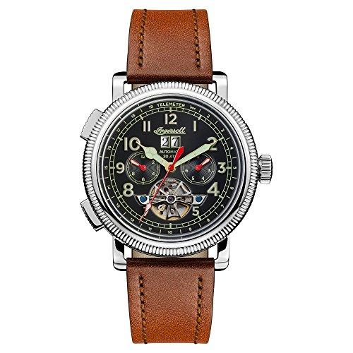Ingersoll Orologio Cronografo Automatico Uomo con Cinturino in Pelle I02602