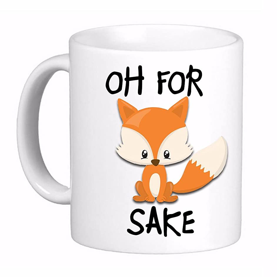 Oh For Fox Sake F#$% Coffee Cup Mug, Awesome, Funny Cute Gift Printed both sides for Left or Right hands Made in the USA