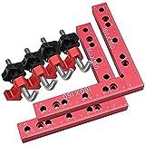 KKTECT Piastre di posizionamento di 90 gradi Posizionamento Piazze Angolo retto Morsetti Solido Lega di Alluminio Lavorazione Del Legno Carpenter Tool Kit