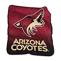 Arizona Coyotes 50x60 Plush Raschel Throw with Large Logo