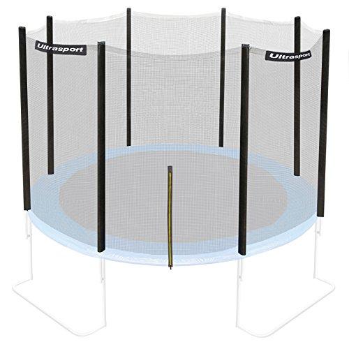 Ultrasport Trampolinnetz, Sicherheitsnetz für Gartentrampoline, kompatibel mit Jumper Modell Ø 305 cm, Trampolin-Zubehör, Ersatznetz, mit Reißverschluss, UV-beständig, Netzhöhe ca. 180 cm