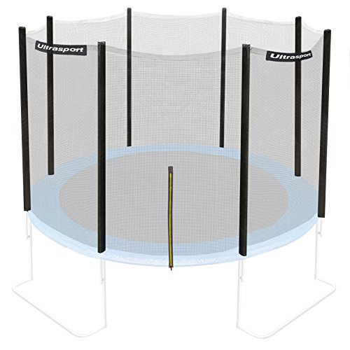 Ultrasport Filet de sécurité pour trampoline de jardin Mixte Adulte, Noir, 305 cm