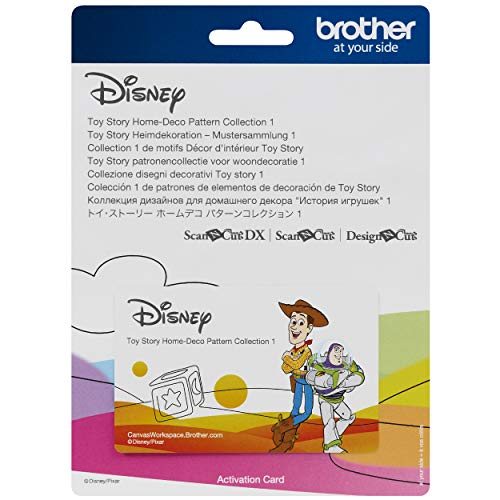 Brother ScanNCut Disney and Pixar Toy Story Home-Deco Pattern Collection 1 CADSNP05, Includes 33 Intricate Designs with Buzz Lightyear, Woody, Jesse, Aliens and More