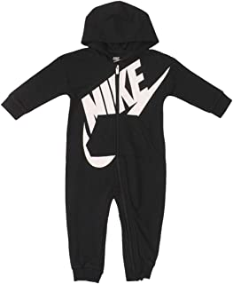 Infant's Hooded Coverall Zip Front Long Sleeve Onesie