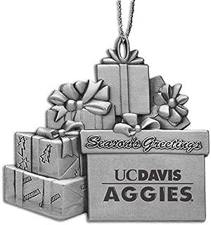 University of California - Davis - Pewter Gift Package Ornament