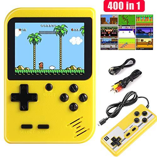 Diswoe Consola de Juegos Portátil, 400 Juegos Retro 2.8 Pulgadas Pantalla a Color Soporte para Jugadores Duales y Conexión de TV, Presente para niños y Adultos