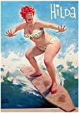 Hilda Chubby Pinup Girl Redhead - Póster vintage para pared (50 x 70 cm, sin marco)...