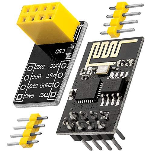 AZDelivery ESP8266 ESP-01S Serial Wireless WLAN WiFi Transceiver Module with ESP-01 Breakout Breadboard Adapter for Arduino including E-Book!