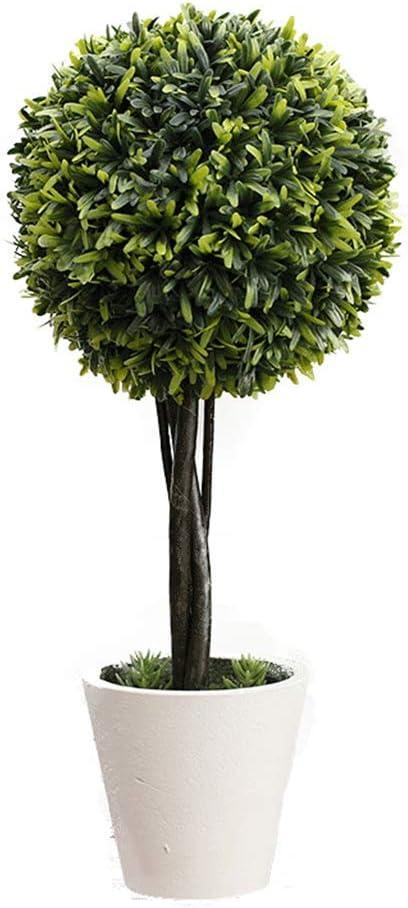 LXLTL Artificial List price Plants Tabletop Pine Ball Boxwood Topiarie Sale item