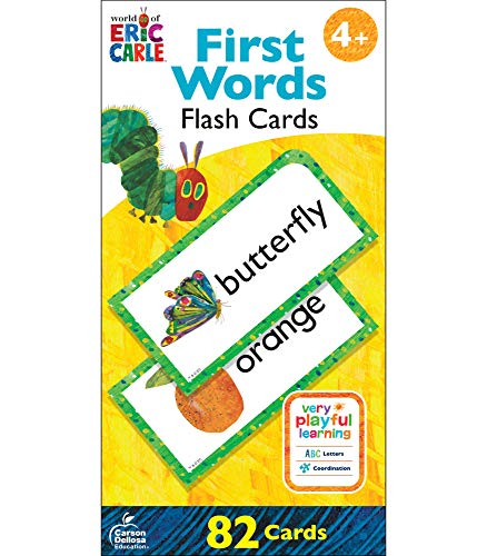 World of Eric Carle   First Words Flash Cards   Bilingual, English and Spanish, 82ct