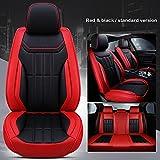 Fundas Asientos Coche Universales para Peugeot 207 201 301 307 Sw 508 Sw 308 206 4007 2008 5008 2010 3008 607 507 Accesorios Coche, Estándar Rojo Negro