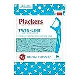 Plackers Hilo dental de doble línea, 75 unidades