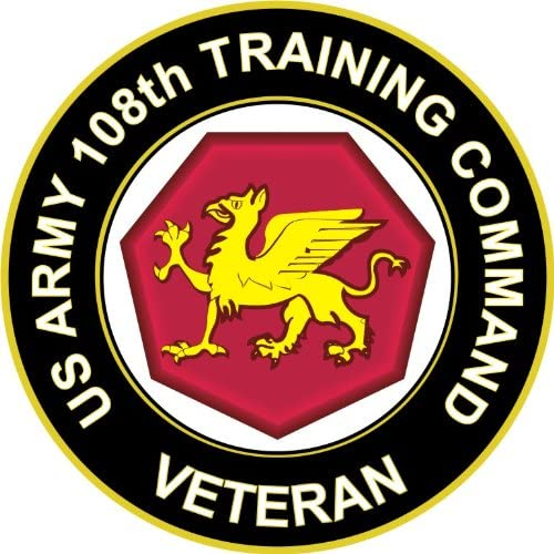 U.S. Clearance SALE! Limited time! Army Bombing free shipping Veteran 108th Training Waterproof Vinyl Window Command
